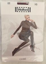 Wolford Womens Ombre Tights Holly Berry Black Size X Small Style 14415