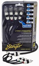 Brand New Stinger RCA Interconnect Cable 4-Channel 12 Feet SI8412 8000 Series