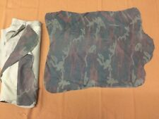 Premium Italian Lamb Leather Hide - Stretch Distressed Camouflage Suede -5 Sq Ft
