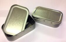 5 x Metal Tobacco 1oz Tin with Seal Small Camping Sewing Survival cigarette silv
