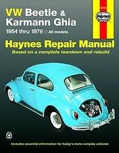 VW Beetle Karmann Ghia Haynes Repair Manual NEW owners Book Service 1954-1979