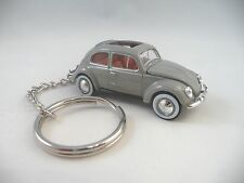 1957 Volkswagen VW Beetle Bug Deluxe European Model Grey Key Chain KeyChain VW