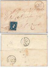 ANTICHI STATI - SARDEGNA : Sassone 2 bordo di foglio su BUSTA da  TRIORA  1851