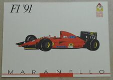 Galleria Ferrari 1993 f1 1991 SCHEDA CARD NO brochure prospetto book libro Press