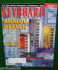 1999 Keyboard Magazine Tests 12 Analog Synths, CLAVIA NORD LEAD, Yamaha AN1x,...