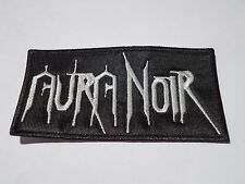 AURA NOIR LOGO BLACK THRASH METAL EMBROIDERED PATCH
