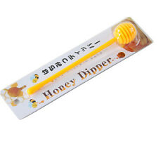 Convenient Good Useful Plastic Honey Dipper Stick for Honey Jar Long Handle AT