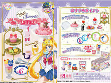 MINIATURE DOLLHOUSE SAILOR MOON CRYSTAL CAFE SWEETS FULL SET OF 8 RE-MENT JP NEW