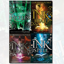 Inkheart Trilogy Collection Cornelia Funke 4 Books Set Reckless, Inkheart NEW PB