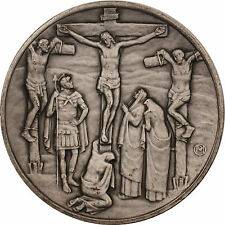 Franklin Mint Vita Christi Jesus the Crucifixion 4.1ozt Silver Medal