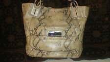 roots   LIMITED EDITION COACH KRISTIN EMBOSSED METALLIC PYTHON TOTE-16797