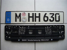 BMW M3,M5,X3,335,528,550,740,750,E46,E60,E61,Z3,Z4 license plate Munich Germany
