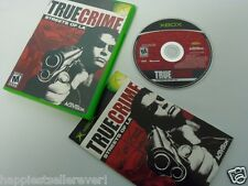 True Crime Streets LA Complete Original XBOX 1 Video Game System DISK FLAWLESS