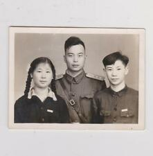 China People's Liberation Army 1957 Korean Brother-In-Law Studio Portrait Photo