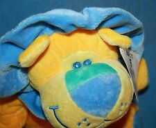 "Dakin Stuffed Blue Yellow LION 14"" Soft Toy Plush Big Lots Beverly Hills Teddy"