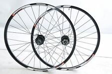 "PAIR 26"" MTB 8/9 CASSETTE SEALED BEARING DISC HUB BIKE WHEELS DOUBLE WALL RIMS B"