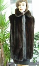 NEW DARK RANCH MINK FUR VEST JACKET WOMEN SZ ALL