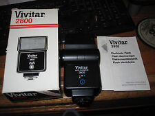 Vivitar 2800 Auto Thyristor Flash with Box & Instructions - Beautiful