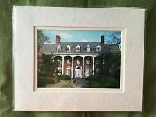 4X6 MATTED COLOR PHOTO WEST VIRGINIA UNIVERSIY E MOORE HALL WVU MOUNTAINEERS NC