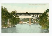 Wolfe Street Bridge—Sherbrooke QUEBEC Antique CPA Horse Carriage 1911