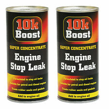 2 x 10K Boost Super Concentrate Engine Stop Leak Oil Treatment Petrol & Diesel