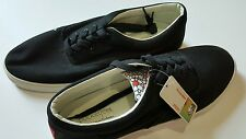 NIB BUCKETFEET Untitled LACE-UP SNEAKERS Black Canvas Mens 13 $62