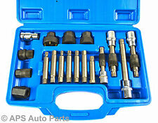 18pc Alternator Clutch Freewheel Pulley Repair Removal Installer Fix Kit Set