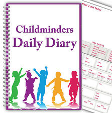 MY DAILY DIARY/ CHILDCARE CHILDMINDER/ EYFS/ DAILY RECORD LOG BOOK