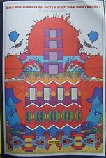 """PETER MAX POSTER PRINT (COSMIC COUPLING) 11""""x16"""" 2-SIDED COSMIC PSYCHEDELIC"""