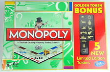 MONOPOLY 13 GOLDEN TOKENS Bonus LIMITED EDITION Cat Iron 2013 Target Hasbro NEW