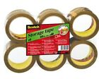 1, 6, 12, 36, 72 108 ROLLS 3M BROWN / BUFF PACKING TAPE 66M X 48MM + FREE 24h