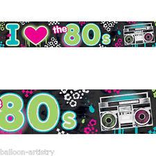 25FT totalmente 80's Discoteca Punk Festa di Compleanno FOIL Banner Decorazione