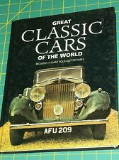 GREAT CLASSIC CARS OF THE WORLD-4 GIANT FOLD-OUT PICTURES-HANS ISENBERG 1993 HC