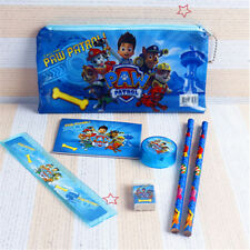 Back To School Paw Patrol 6 Pcs Stationery Set Pencil Case Rule Kid XMAS Gift