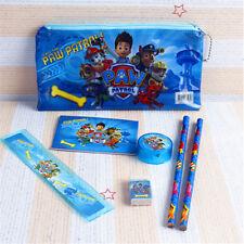 XMAS Back To School Paw Patrol 6 Pcs Stationery Set Pencil Case Rule Kids Gift