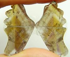 ButterflyWings Super Seven Mineral Melody Stone 35.95ct 34x18x4mm per wing Q-103