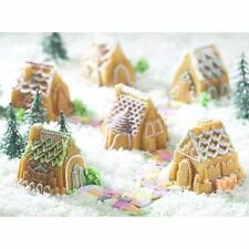 NEW NORDIC WARE 3D COZY VILLAGE MINI GINGERBREAD HOUSE BUNDT CAKELET / JELLO PAN