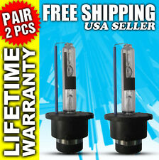 D2R 35W 6000K White HID Xenon Replacement Low Beam Headlight Bulbs Pair (x2) NEW