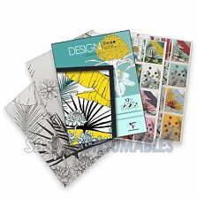 Clairefontaine Design Book - Quality Adult Colouring Pad. 250gsm card. Flowers.