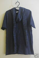 TOPMAN T-SHIRT WITH ATTACHED NECK SCARF TAG SIZE  US M