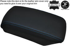 BLUE STITCHING ARMREST LID LEATHER SKIN COVER FITS KIA CEED 2006-2012