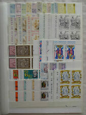 VATICAN CITY MNH COLLECTION OF SETS IN BLOCKS OF 4 1975-83, SUPERB