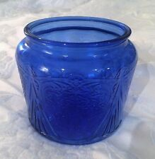 Royal Lace Cobalt Blue Depression Glass Cookie Jar Bottom