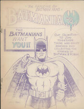BATMANIA #8, January 1966, Comic Fanzine - VG