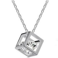 Fashion Women's Gold/Silver Plated Cubic Crystal Rhinestone Pendant Necklace