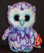 "TY BEANIE BOOS - OSCAR the 6"" OWL - MINT with MINT TAGS"