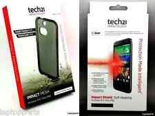 100% Genuine TECH 21 Imapct Mesh Smokey Case + Screen Protector For HTC ONE M8
