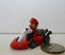 "Official NINTENDO YUJIN MARIO KART ""Mario"" PULL BACK ACTION PLASTIC CAR 2008"