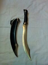 MACHINE-MADE-INDIAN-SWORD-DEGAR-TYPE-METAL-HANDLE-AND-STEEL-BLADE