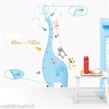Elephant Kids Nursery 1.60 metre Height Growth Measure Chart UK Wall Sticker